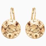 Kolczyki sztyftowe Bella, brązowe, w odcieniu złota - Swarovski, 901640