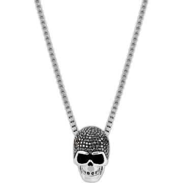 Pendente Taddeo Skull, nero, Mix di placcature - Swarovski, 1180839