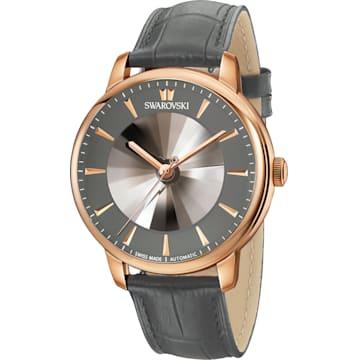 Orologio automatico maschile Atlantis edizione limitata, Cinturino in pelle, grigio, PVD tonalità oro rosa - Swarovski, 5364203