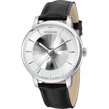 Orologio automatico maschile Atlantis edizione limitata, Cinturino in pelle, bianco, acciaio inossidabile - Swarovski, 5364206