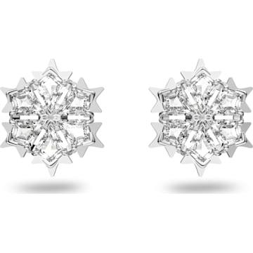 31545deb2195 Pendientes Magic, blanco, Baño de Rodio ✧ Swarovski.com