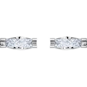 Gemelli Crystaldust, bianco, acciaio inossidabile - Swarovski, 5429896