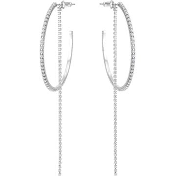 스와로브스키 귀걸이 Swarovski Fit Hoop Pierced Earrings, White, Stainless steel