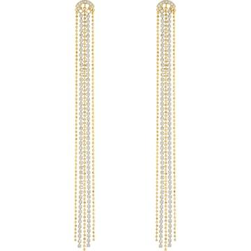 스와로브스키 귀걸이 Swarovski Fit Pierced Tassell Earrings, White, Gold-tone plated