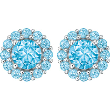 18K WG Pleasant Earrings (Blue) - Swarovski, 5229532