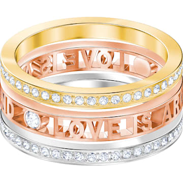 Admiration Ring, White, Mixed metal finish - Swarovski, 5409700