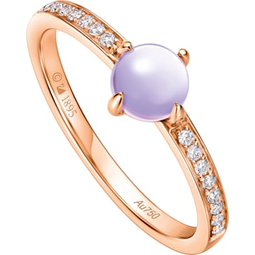 许愿星辰18K玫瑰金紫晶钻石戒指 - Swarovski, 5436226
