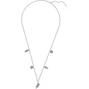 Mustique Sea Life Necklace, Dark multi-colored, Palladium plated - Swarovski, 5533753
