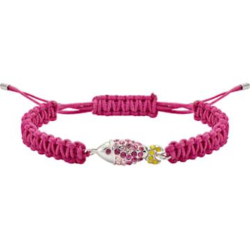 Mustique Sea Life Fish Bracelet, Pink, Palladium plated - Swarovski, 5533758
