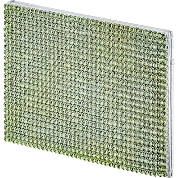 Porte-cartes Marina, vert, métal plaqué palladium - Swarovski, 5535439