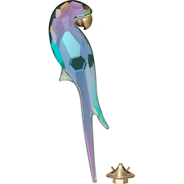 Jungle Beats, магнит «Попугай», блестящий зелёный, большой - Swarovski, 5572152