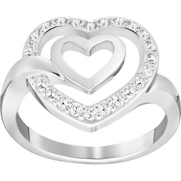 Guidance Ring, Black, Mixed Plating | Swarovski com