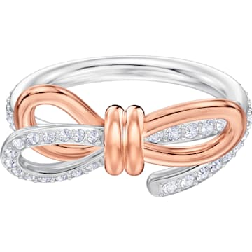 스와로브스키 라이프롱 반지 Swarovski Lifelong Bow Ring, White, Mixed metal finish