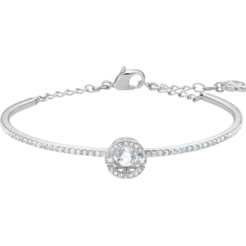 Swarovski Sparkling Dance Round Necklace, White, Rose-gold