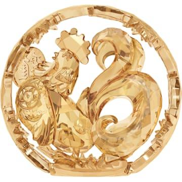 스와로브스키 장식품 Swarovski Chinese Zodiac - Rooster , Gold Tone