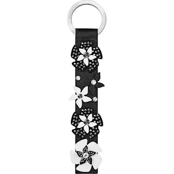 스와로브스키 반지 Swarovski Mazy Key Ring, Black, Stainless steel