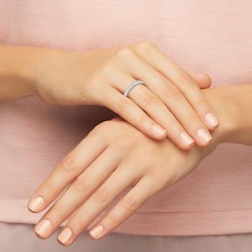 Prsten Rare, bílý, rhodiovaný - Swarovski, 1121068