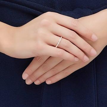 Prsten Rare, bílý, pozlacený růžovým zlatem - Swarovski, 5032902