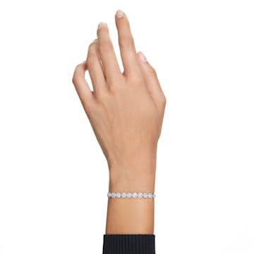 Angelic 手链, 圆形切割, 白色, 镀铑 - Swarovski, 5071173