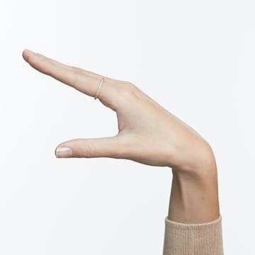 Δαχτυλίδι Vittore, λευκό, επιχρυσωμένο σε χρυσή ροζ απόχρωση - Swarovski, 5083129