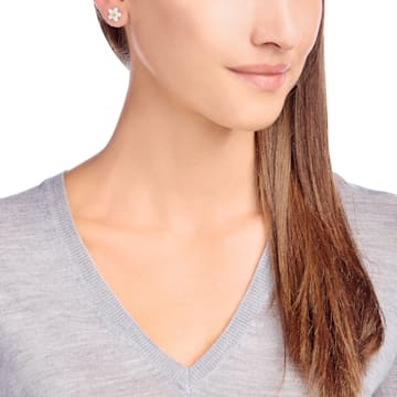 Tough Earrings, White, Mixed metal finish - Swarovski, 5136838