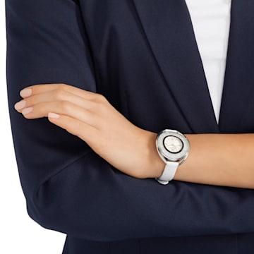 Crystalline Oval 腕表, 真皮表带, 白色, 银色 - Swarovski, 5158548