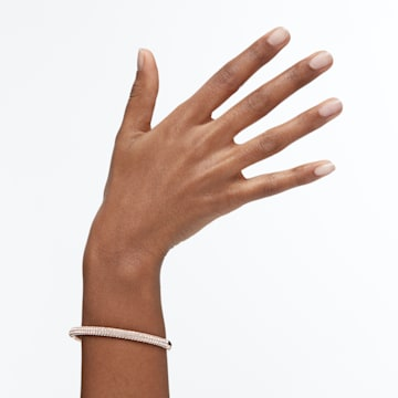 Stone-armband, Wit, Roségoudkleurige toplaag - Swarovski, 5184516