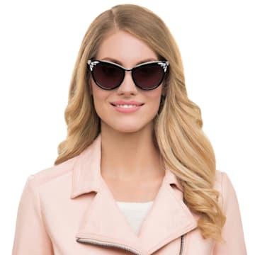 Okulary przeciwsłoneczne Fortune, SK0102-F 01B, Czarny - Swarovski, 5219662
