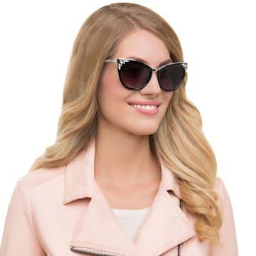 Fortune-zonnebril, SK0102-F 01B, Zwart - Swarovski, 5219662
