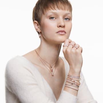 Subtle-armband, Wit, Roségoudkleurige toplaag - Swarovski, 5224182