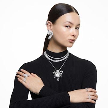 Prsten Vittore XL, bílý, rhodiovaný - Swarovski, 5237742
