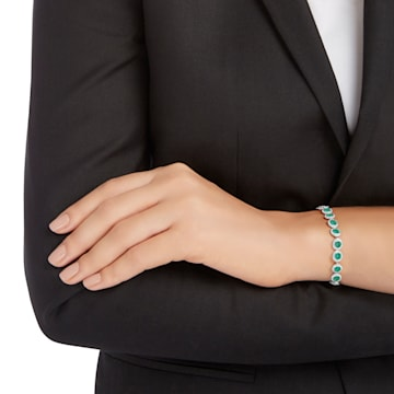 Angelic 手鏈, 綠色, 鍍白金色 - Swarovski, 5237769