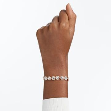 Pulsera Angelic, blanco, Baño en tono Oro Rosa - Swarovski, 5240513