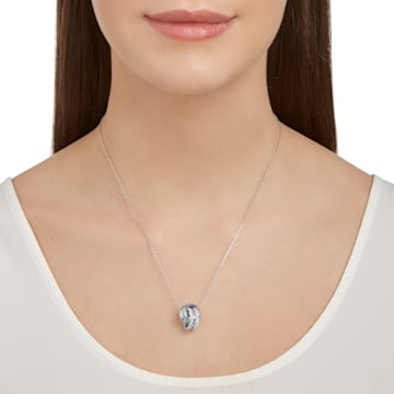 Further Pendant, White, Rhodium plated - Swarovski, 5240524