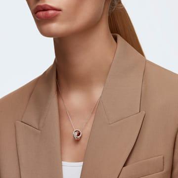 Further pendant, Small, White, Rose gold-tone plated - Swarovski, 5240525