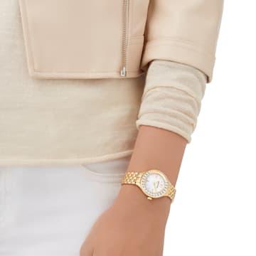 Reloj Lovely Crystals, Brazalete de metal, PVD en tono Oro - Swarovski, 5242895