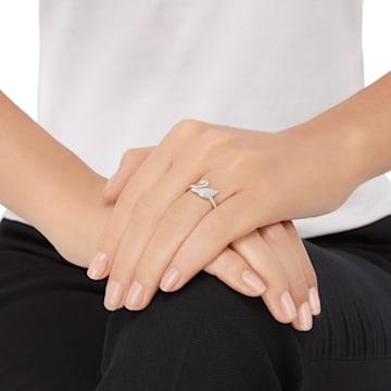 Swarovski Iconic Swan Ring, White, Rhodium plated - Swarovski, 5250743