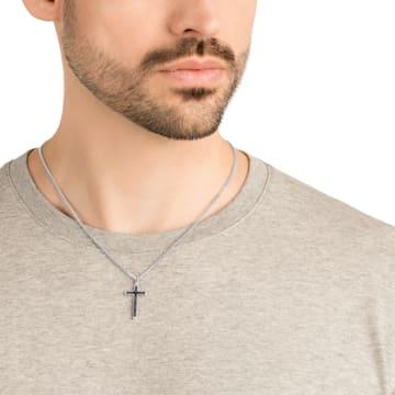 Govern Cross Pendant, Black, Stainless steel - Swarovski, 5252386