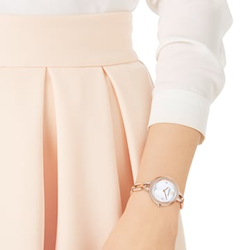 Aila Mini-horloge, Metalen armband, Roségoudkleurig PVD - Swarovski, 5253329