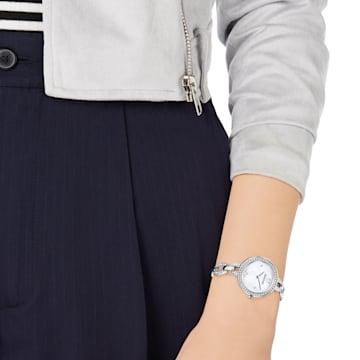 Aila Mini Saat, Metal bileklik, Paslanmaz çelik - Swarovski, 5253332
