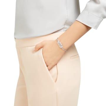 Swarovski Iconic Swan Жёсткий браслет, Многоцветный Кристалл, Родиевое покрытие - Swarovski, 5256264