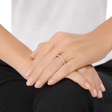 Vittore XL Ring, White, Gold-tone plated - Swarovski, 5257474
