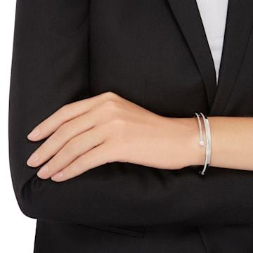 Fresh-armband, Wit, Rodium-verguld - Swarovski, 5257561