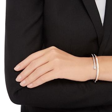 Bracelet-jonc Fresh, blanc, Métal doré rose - Swarovski, 5257565