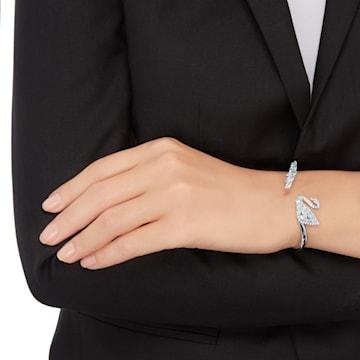 Swan Lake Жёсткий браслет, Белый Кристалл, Родиевое покрытие - Swarovski, 5258397
