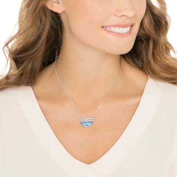 Glow Necklace, Small, Blue - Swarovski, 5266718
