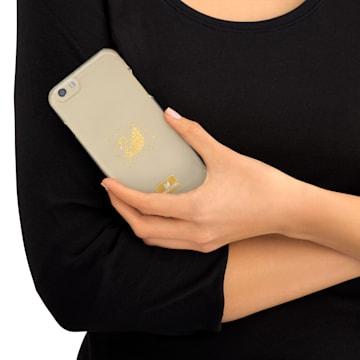 Coque rigide pour smartphone avec cadre amortisseur Swan Golden, iPhone® 7 - Swarovski, 5268118