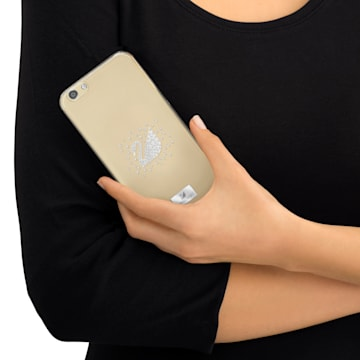 Swan Silvery Coque rigide pour smartphone avec cadre amortisseur, iPhone® 6 - Swarovski, 5268128