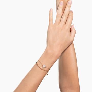 Bracciale rigido Ginger, Bianco, Placcato color oro rosa - Swarovski, 5274892