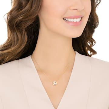 Collar Swarovski Sparkling Dance Round, blanco, Baño en tono Oro - Swarovski, 5284186